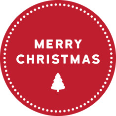 Merry Christmas reusable fabric wall decal