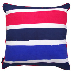Painted stripe pink cushion cover