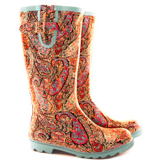 Paisley rubber tall wellies
