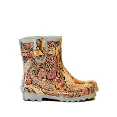 Paisley mini rubber wellies