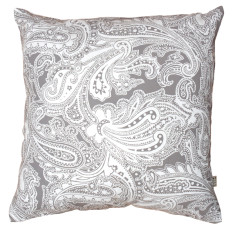 Paisley cushion cover in putty