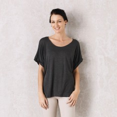 Martina top in charcoal