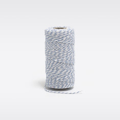 Pale  blue & white bakers twine