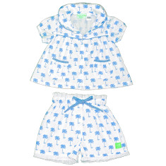 Palm Sunday blue girls' pj set