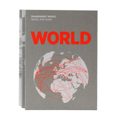Palomar transparent world travel map diary