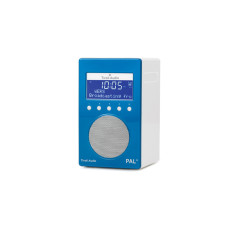 PAL+ portable digital radio in blue