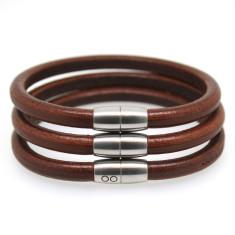 Men's pan leather bracelets in brown