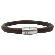 Chocolate leather pan bracelet