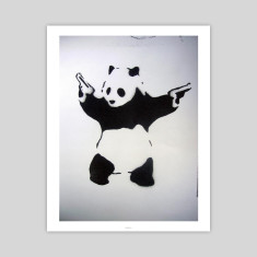 Pandamonium graffiti art print