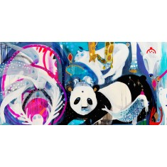Limited edition Scuba Panda print
