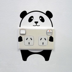 Panda wall sticker for power points