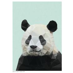 Geometric panda print