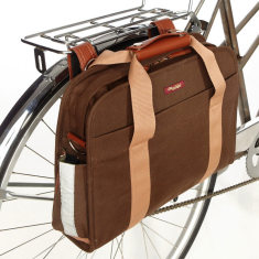 Po Campo Umber pannier laptop bag