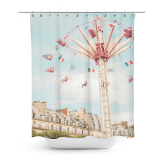Paris carnival shower curtain