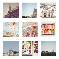 Paris photography prints (set of 9)
