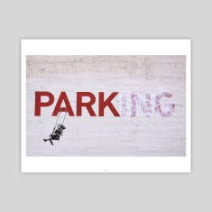 Parking by Banksy Art Print