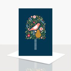 Partridge in a pear tree greeting card (box of 8)
