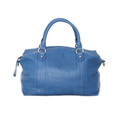 Passing moment leather handbag in blue