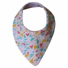 Pastel triangle dribble bib