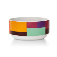 Patch stacking bowl in purple