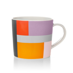 Patch coffee mug in multi