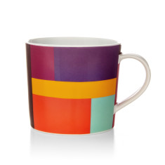 Patch coffee mug in purple