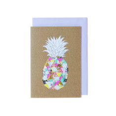 Pineapple pattern greeting cards (pack of 5)