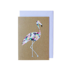 Flamingo greeting cards (pack of 5)
