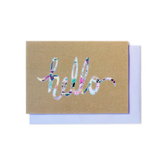 Hello pattern greeting cards (pack of 5)