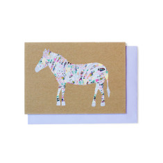 Zebra pattern greeting cards (pack of 5)