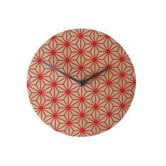 Objectify Red Pattern Wall Clock