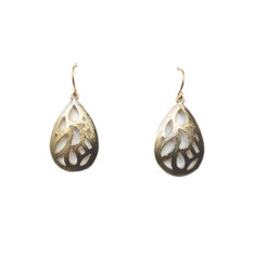 Patterned teardrops (gold)