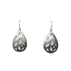 Patterned teardrops (silver)