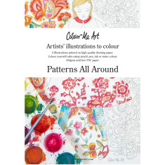 Patterns All Around adult colouring book