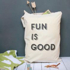 Fun Is Good Toy Sack