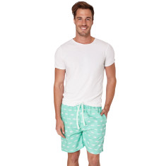 Gone fishing green men's sleep shorts