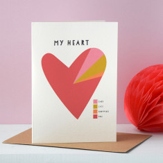 My Heart A Pie Chart Personalised Valentines Card