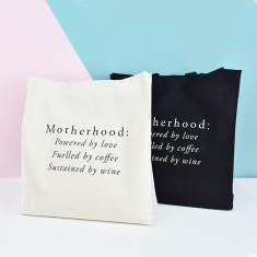 Motherhood mother's day tote bag