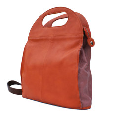 Leather Clark Bag/Backpack - Terracotta
