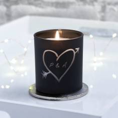 Carved Heart Personalised Candle