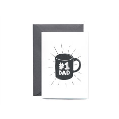 Number 1 Dad Illustrated Greeting Card