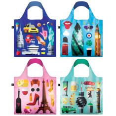 LOQI hey collection reusable bag (various designs)