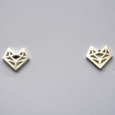 Origami fox studs