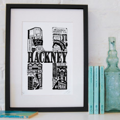 Hackney screen print