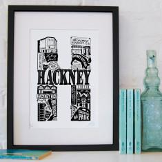 Hackney screen print