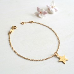 Personalised Gold Star Initial Bracelet
