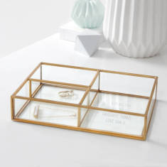 Personalised Glass Compartment Tray
