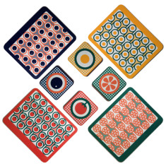 English Breakfast patterns melamine placemat coaster set