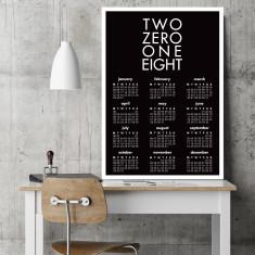Two zero one eight wall calendar (various sizes & colours)