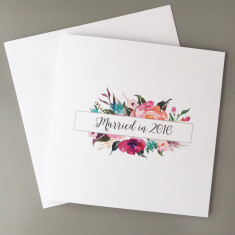 Married in 2016 Wedding Card